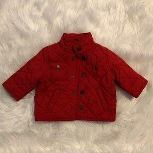 Boys red barn jacket Ralph Lauren